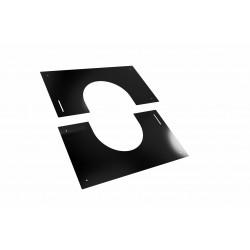 Plaque de finition noire de 30 à 45°