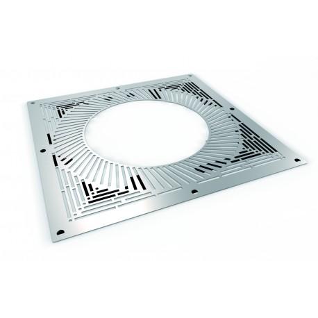 Plaque distance de sécurité ventilée galvanisée
