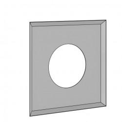 Plaque de finition biseautée blanche
