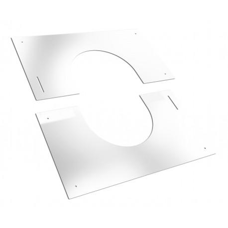 Plaque de finition blanche de 30 à 45°