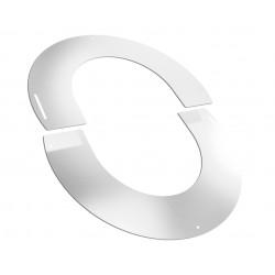 Plaque finition blanche arrondie de 30 à 45°