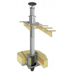 Conduit de cheminée spécial poêles à bois et granulés
