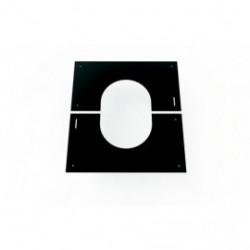 Plaque de finition noire de 0 à 30°